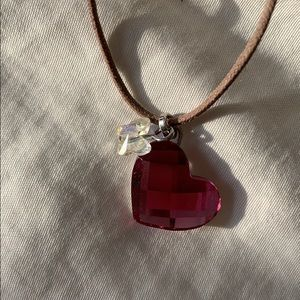 Jewelry - Swarovski heart chocker pendant